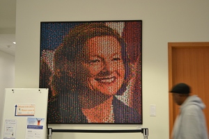 Allison_Redford_gumball_portrait_by_Franz_Spohn_ as_installed_on_site_at_Bow_Valley_College_2013_October_10 (1024x683)
